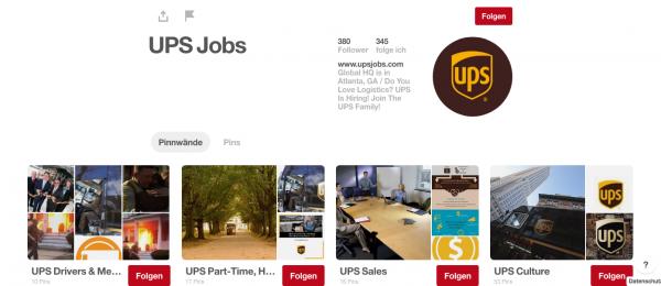 UPS und Personalmarketing auf Pinterest