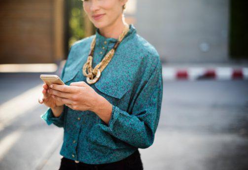 Responsive Website am Smartphone besuchen