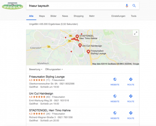 Local Pack Google MyBusiness